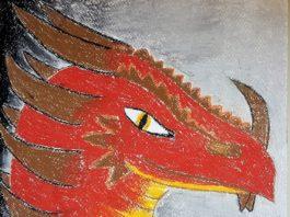 """Авторський малюнок-ілюстрація """"Дракон"""""""